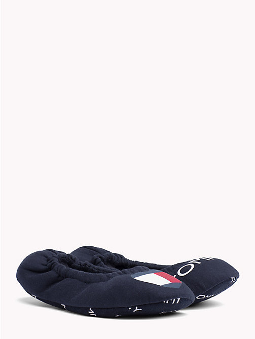 TOMMY HILFIGER Packable Flag Slippers - MIDNIGHT - TOMMY HILFIGER Shoes - main image