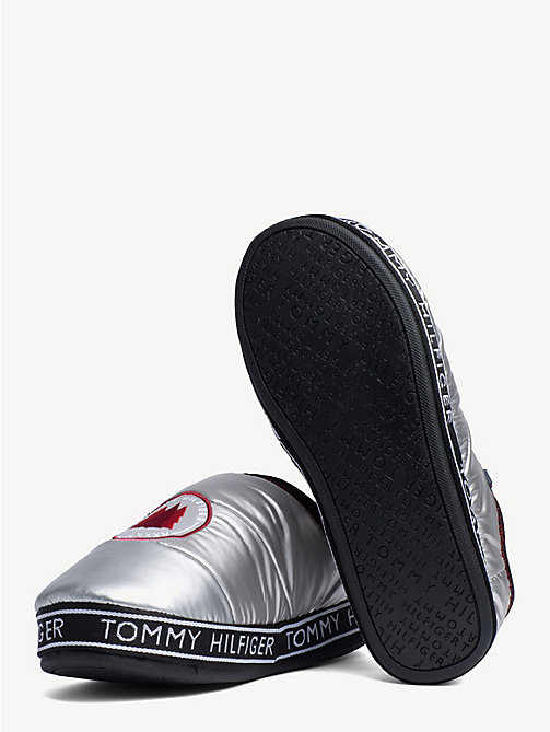 TOMMY HILFIGER Logo Patch Slippers - SILVER - TOMMY HILFIGER Shoes - detail image 1