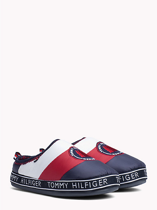 TOMMY HILFIGER Logo Patch Slippers - RWB - TOMMY HILFIGER Shoes - main image