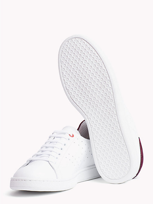 TOMMY HILFIGER Tommy Icons Leather Trainers - WHITE - TOMMY HILFIGER TOMMY ICONS - detail image 1