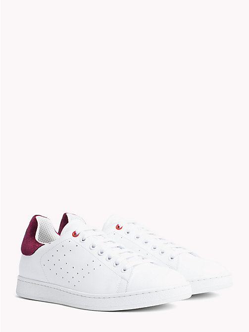 TOMMY HILFIGER Tommy Icons Leather Trainers - WHITE - TOMMY HILFIGER TOMMY ICONS - main image