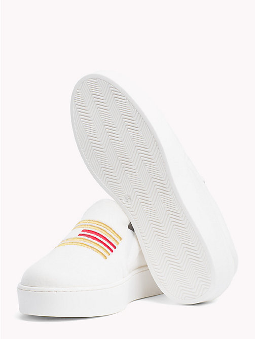 TOMMY HILFIGER Baskets slip-on en velours Tommy Icons - SNOW WHITE - TOMMY HILFIGER TOMMY ICONS - image détaillée 1