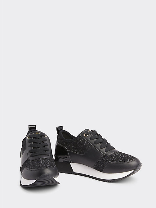 820239e814036 black city iconic knitted trainers for women tommy hilfiger