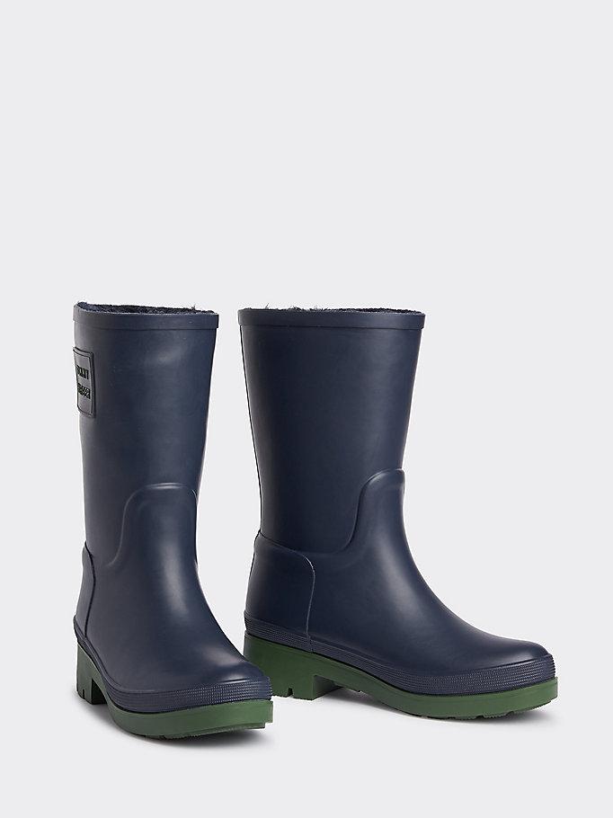 Stivali da pioggia con sezione in maglia | BLUE | Tommy Hilfiger