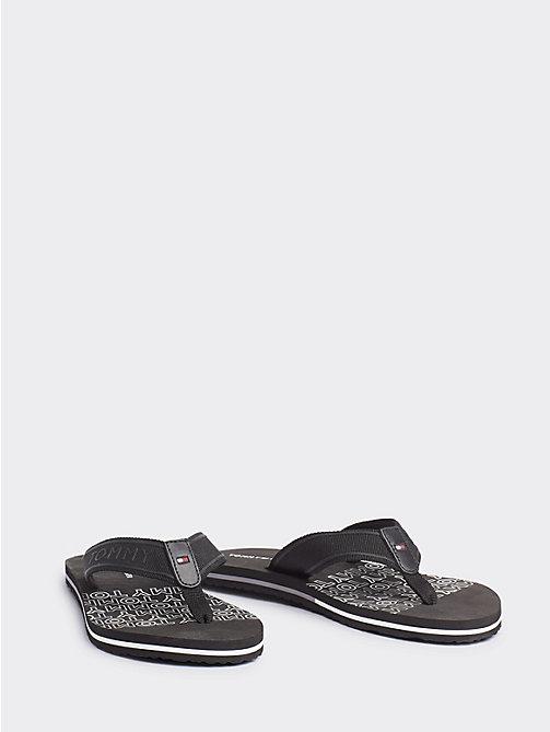 5c910c954f0 black signature flat beach flip-flops for women tommy hilfiger