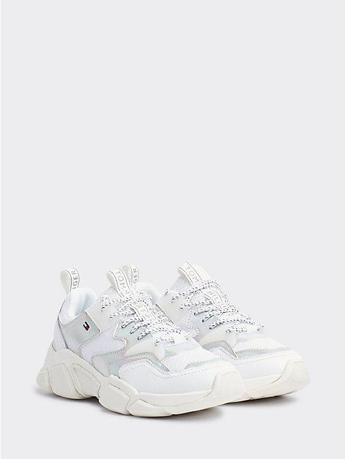 b7e0200ea2ce sneakers con dettagli cangianti white da donna tommy hilfiger