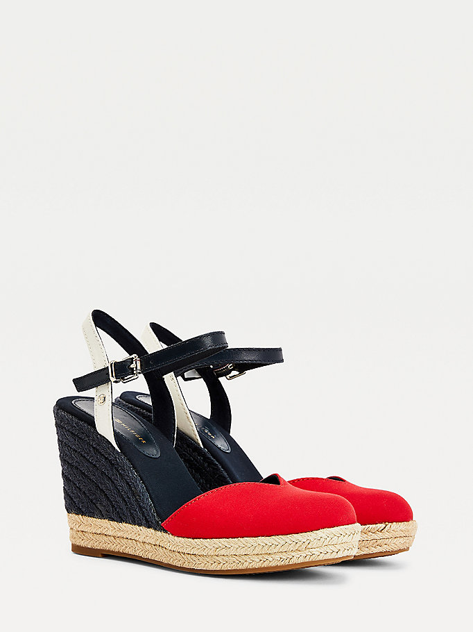 Tommy Hilfiger Womens New Tommy Basic Opened Toe Wedge Sandals