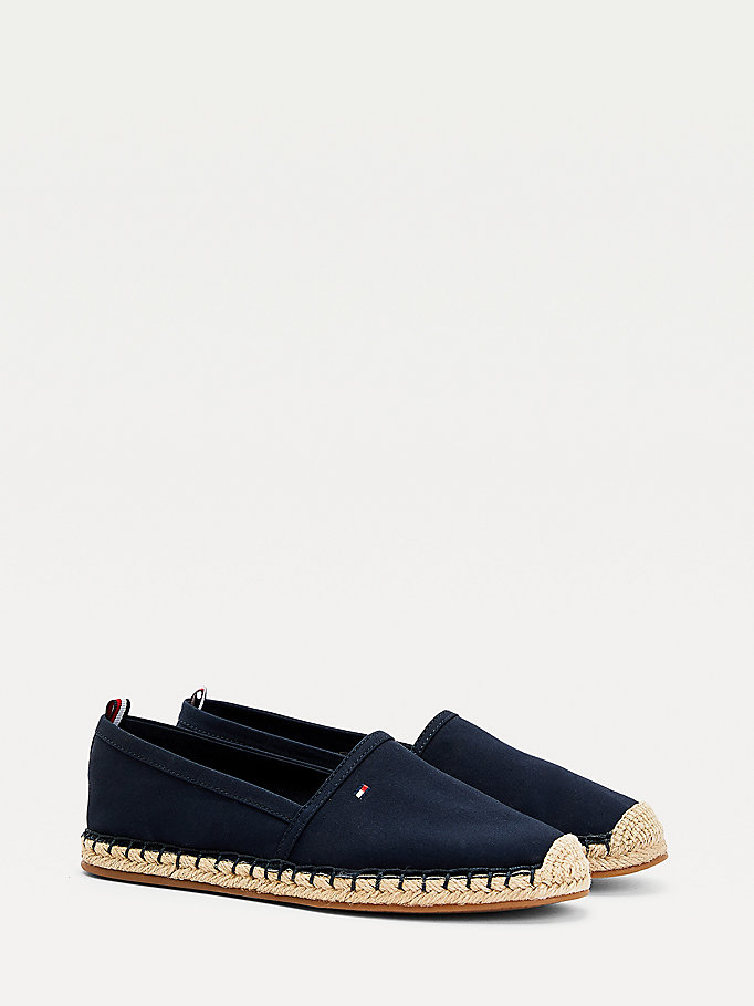 blue essential flat espadrilles for women tommy hilfiger