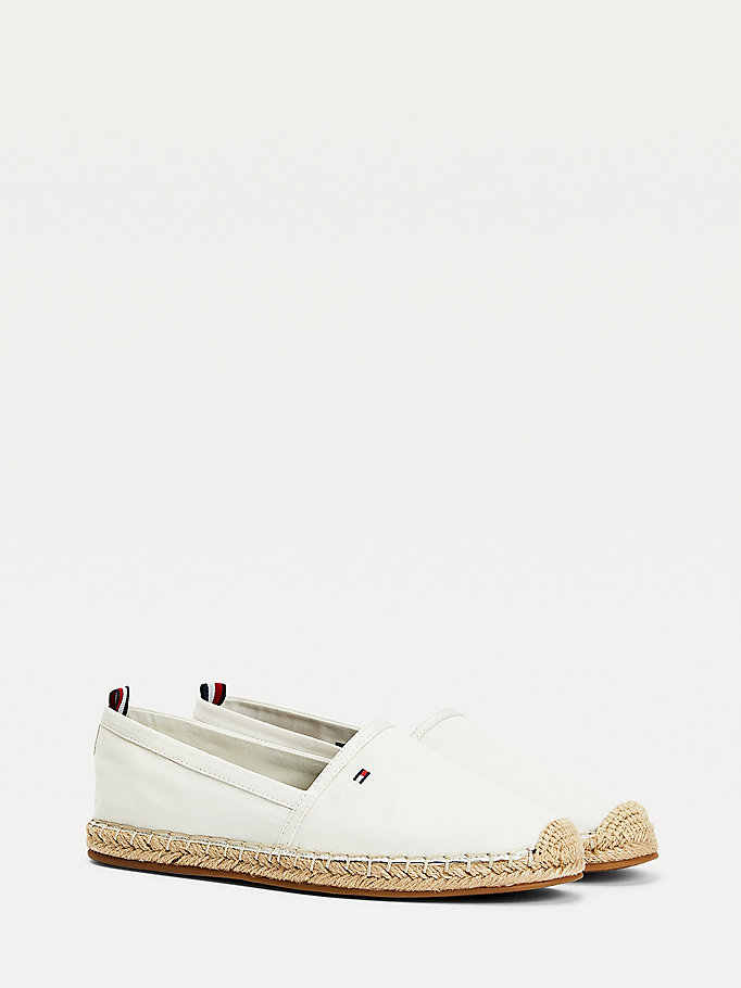 white essential flat espadrilles for women tommy hilfiger