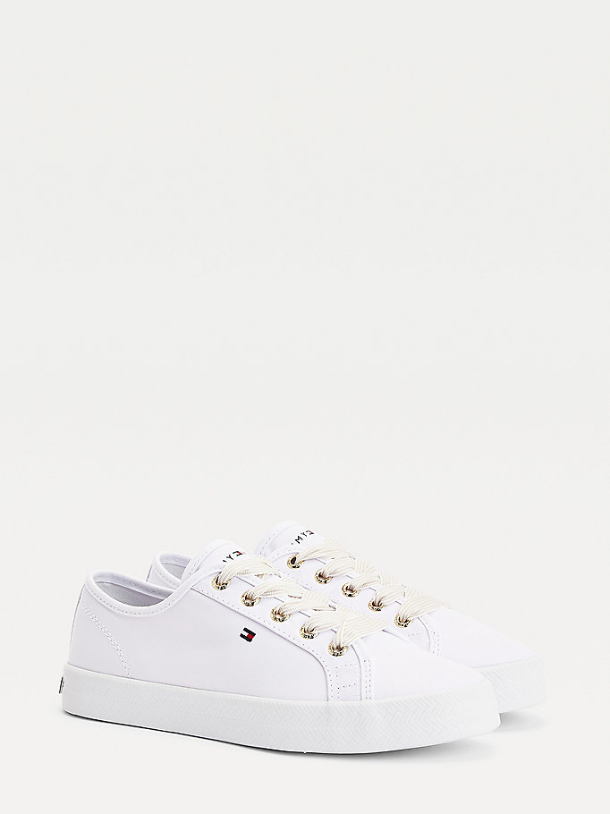 white essential nautical trainers for women tommy hilfiger