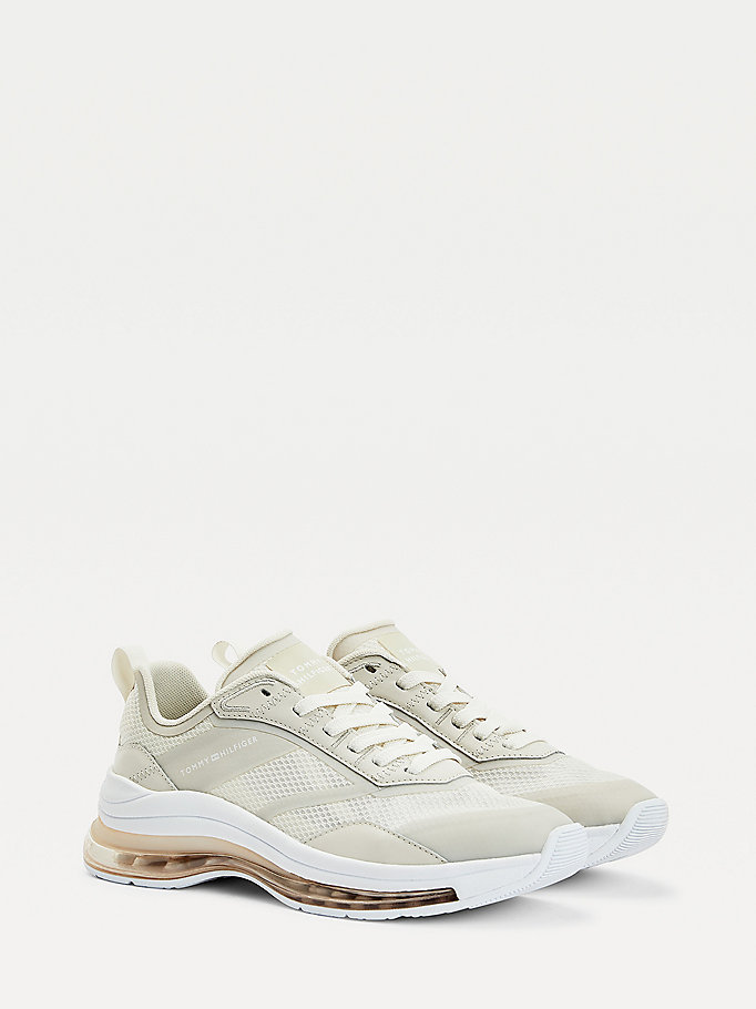 beige air bubble trainers for women tommy hilfiger