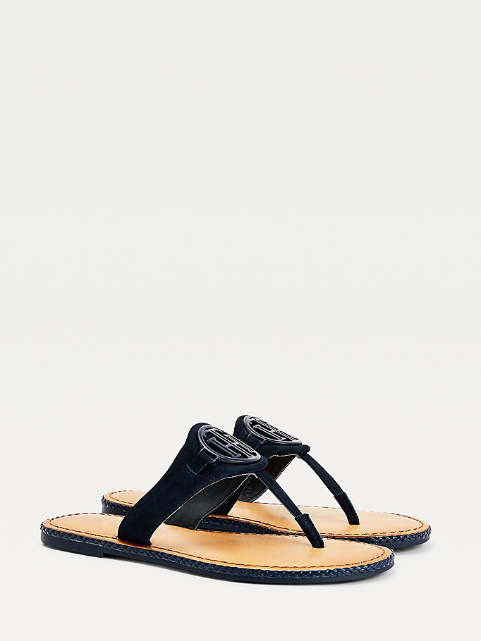 blue essential comfort padding sandals for women tommy hilfiger