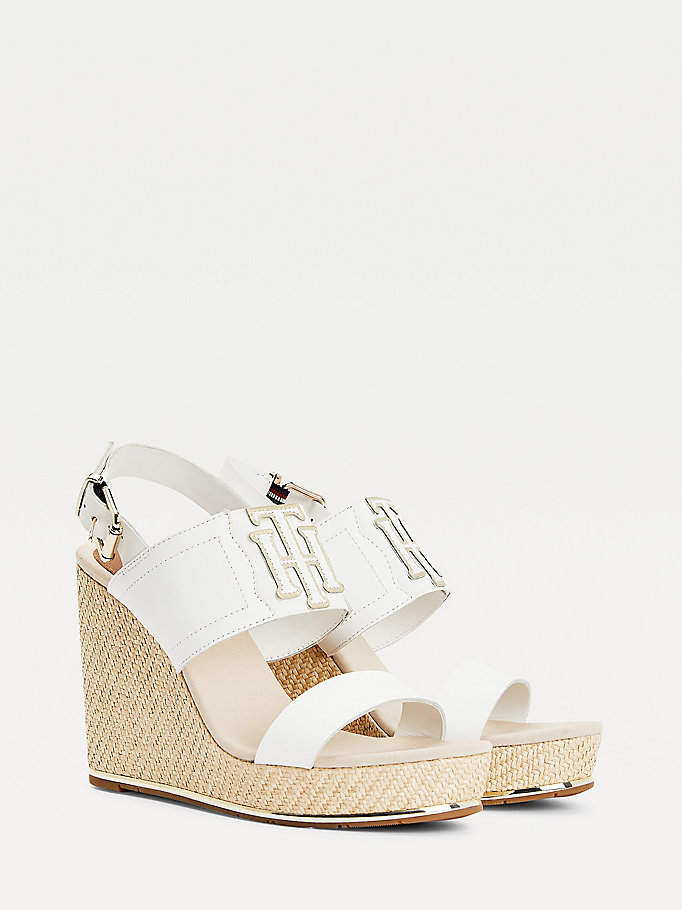 white high wedge espadrille sandals for women tommy hilfiger