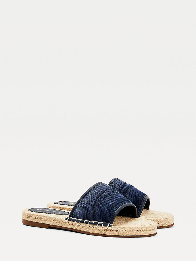 blue gradient flat espadrille sandals for women tommy hilfiger