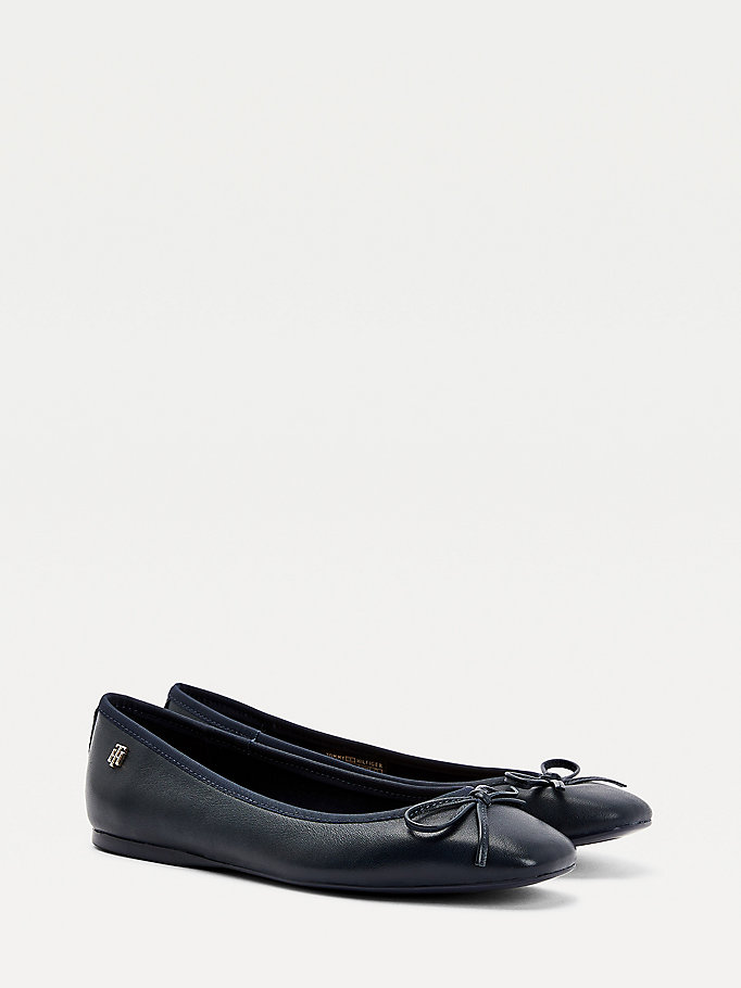 blue essential ballerina shoes for women tommy hilfiger