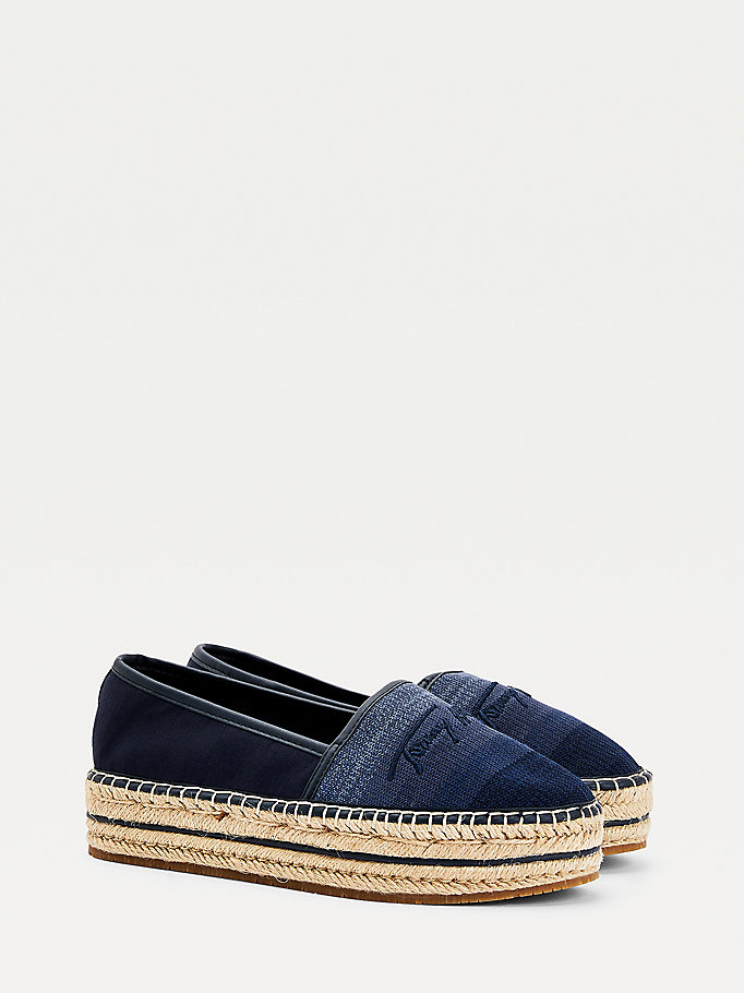 blue gradient flatform espadrilles for women tommy hilfiger