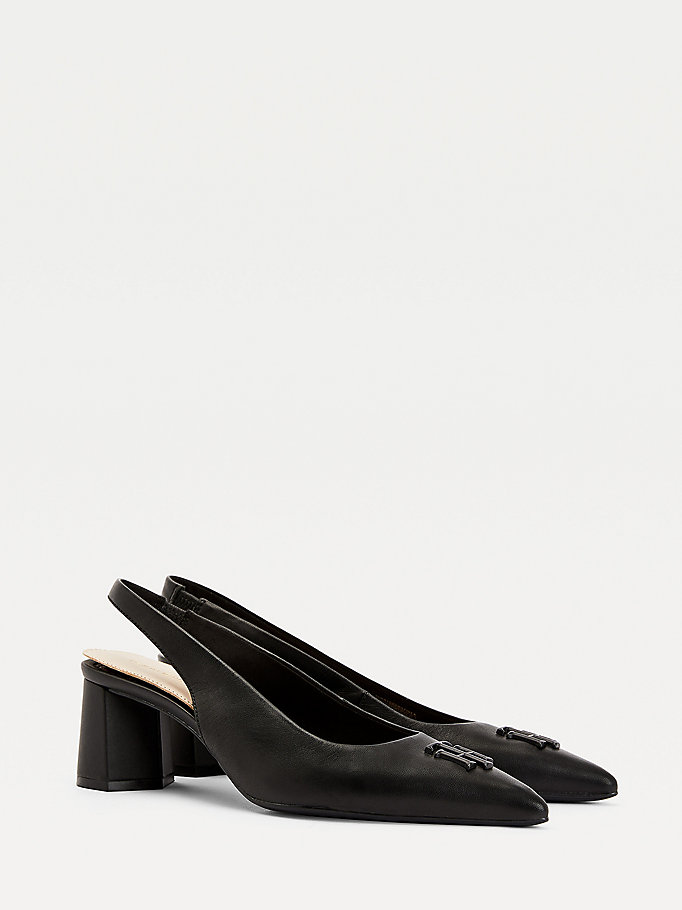 black leather slingback shoes for women tommy hilfiger