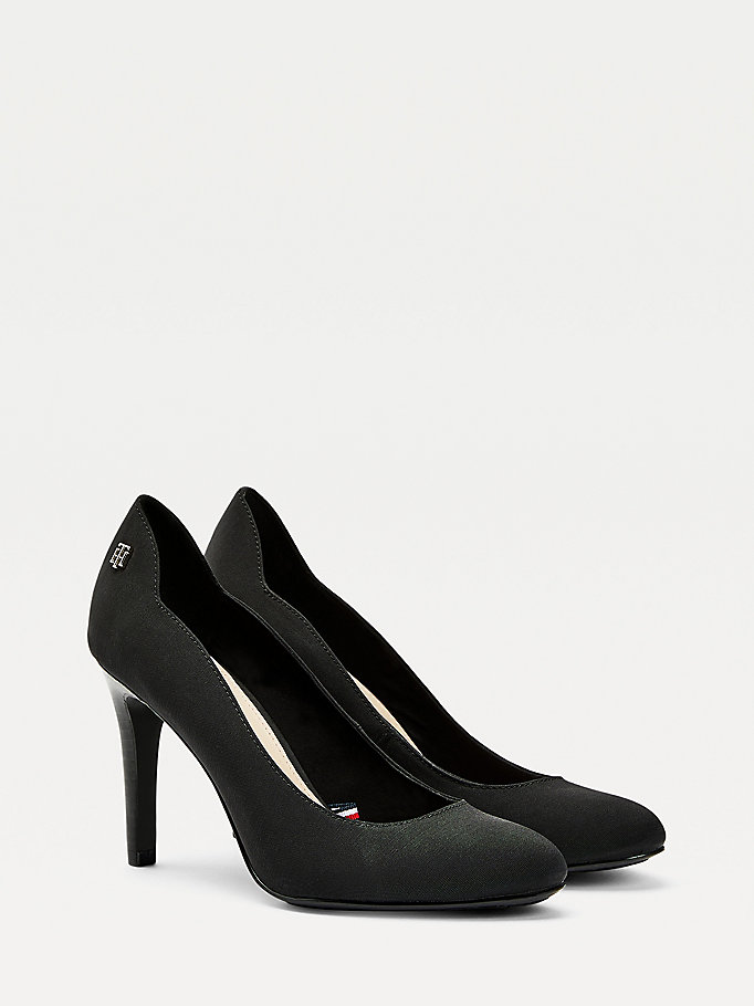 black essential high heel shoes for women tommy hilfiger
