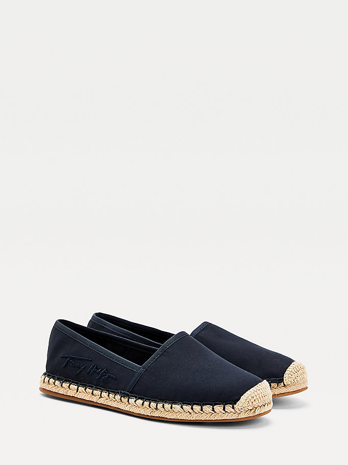 blue signature espadrilles for women tommy hilfiger