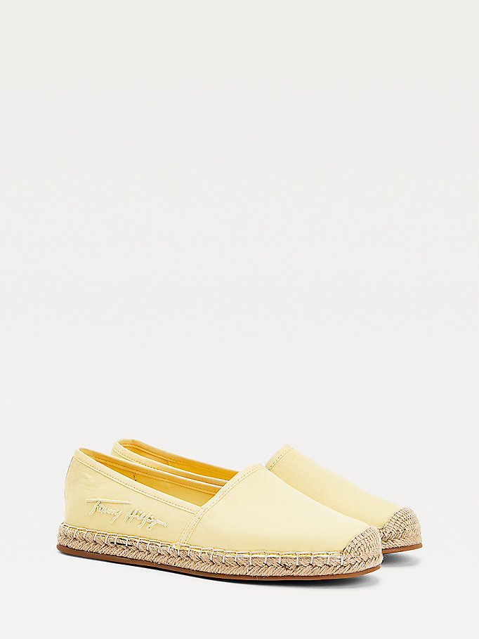 yellow signature espadrilles for women tommy hilfiger