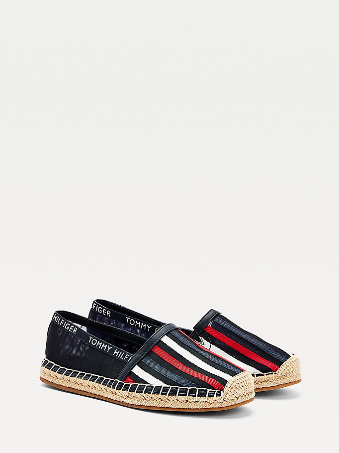 blue stripe espadrilles for women tommy hilfiger