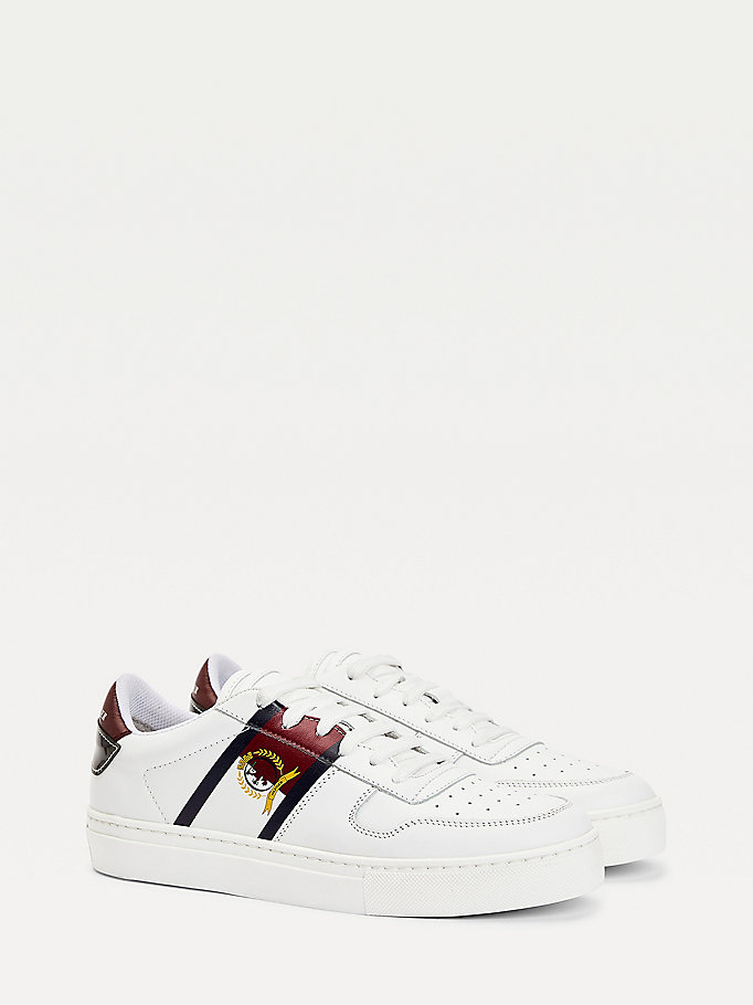 white crest cupsole trainers for women tommy hilfiger