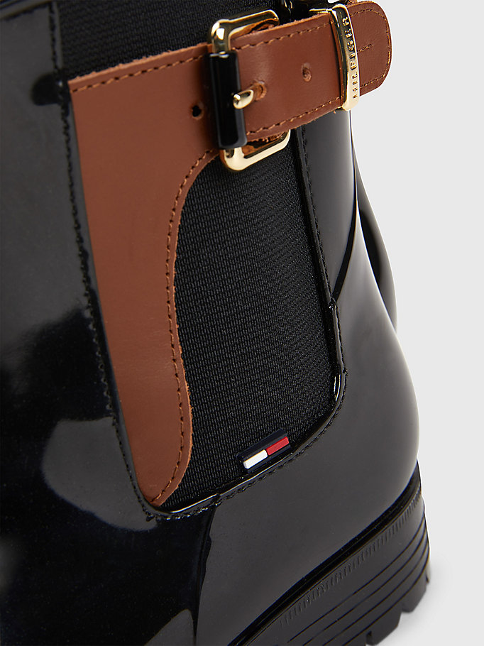 Buckled Ankle Wellies - MIDNIGHT-WINTER COGNAC - TOMMY HILFIGER Women - detail image 2