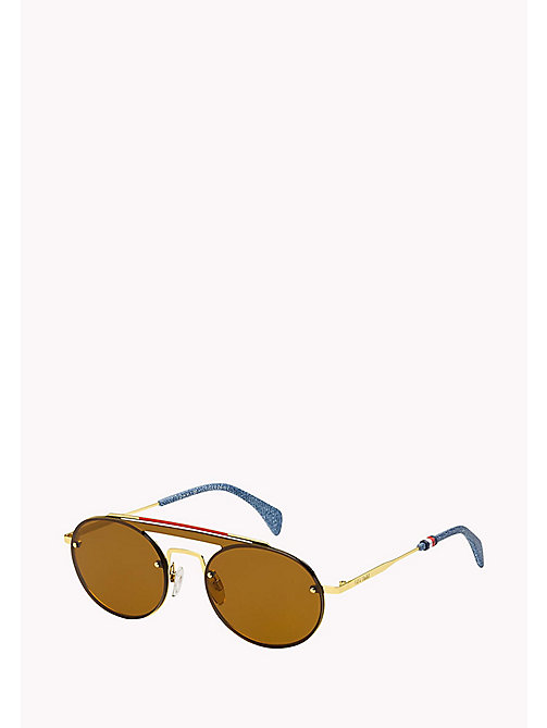 TOMMY HILFIGER Gigi Hadid Sunglasses - GOLD/BROWN - TOMMY HILFIGER Sunglasses - detail image 1