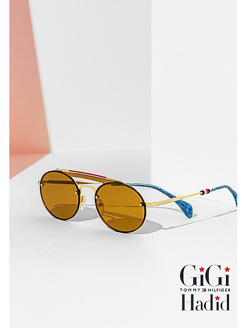 TOMMY HILFIGER Gigi Hadid Sunglasses - GOLD/BROWN - TOMMY HILFIGER Sunglasses - main image