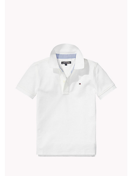 TOMMY HILFIGER Pique Polo Shirt - CLASSIC WHITE - TOMMY HILFIGER Boys - main image
