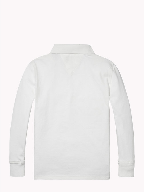 TOMMY HILFIGER Long Sleeve Polo Shirt - CLASSIC WHITE - TOMMY HILFIGER T-shirts & Polos - detail image 1