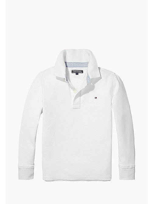TOMMY HILFIGER Long Sleeve Polo Shirt - CLASSIC WHITE - TOMMY HILFIGER T-shirts & Polos - main image