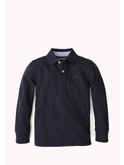 TOMMY HILFIGER Long Sleeve Polo Shirt - MIDNIGHT - TOMMY HILFIGER T-shirts & Polos - main image