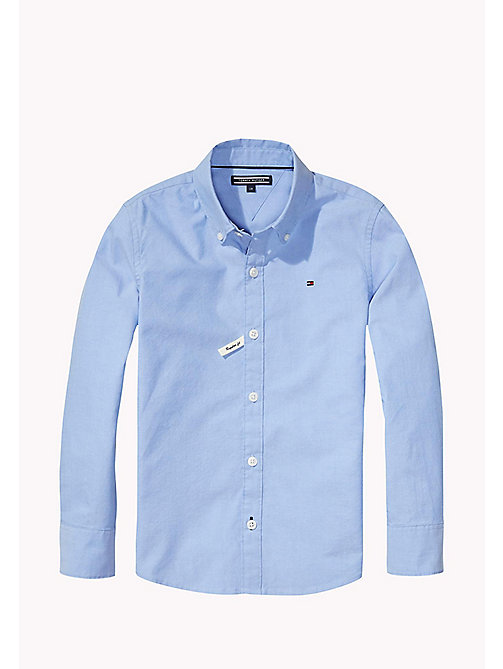 TOMMY HILFIGER Button Down Collar Shirt - LIGHT BLUE - TOMMY HILFIGER Shirts - main image