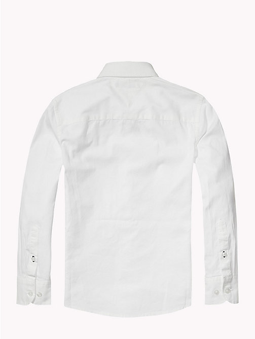 TOMMY HILFIGER Button Down Collar Shirt - CLASSIC WHITE - TOMMY HILFIGER Boys - detail image 1