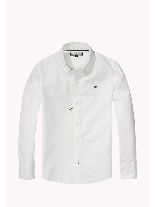 TOMMY HILFIGER Button Down Collar Shirt - CLASSIC WHITE - TOMMY HILFIGER Boys - main image