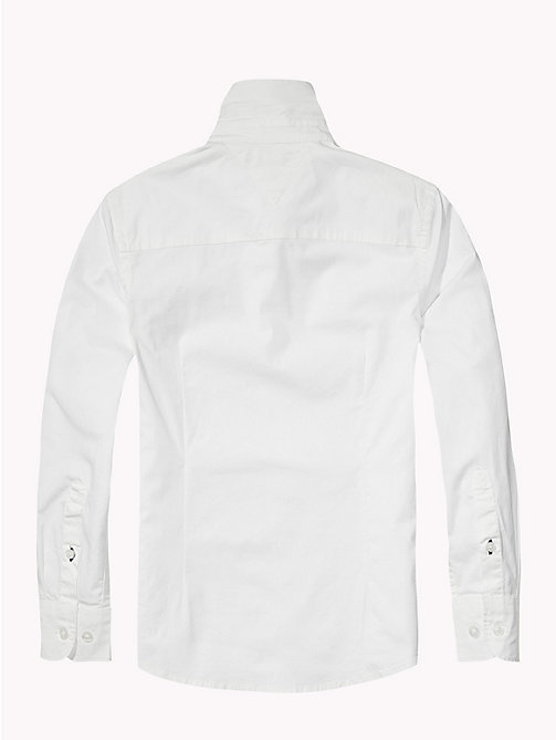 TOMMY HILFIGER Stretch Poplin Shirt - CLASSIC WHITE - TOMMY HILFIGER Tops - detail image 1