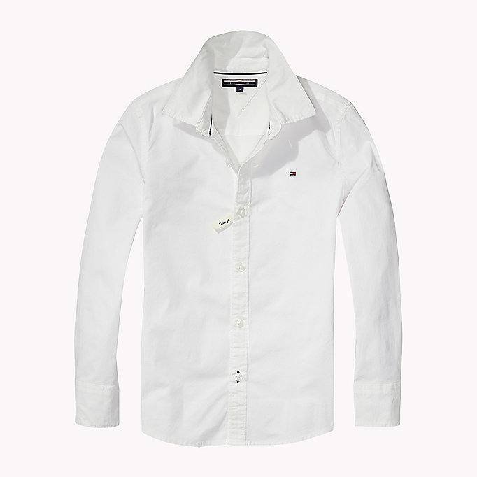 TOMMY HILFIGER Stretch Poplin Shirt - MIDNIGHT - TOMMY HILFIGER Kids - main image