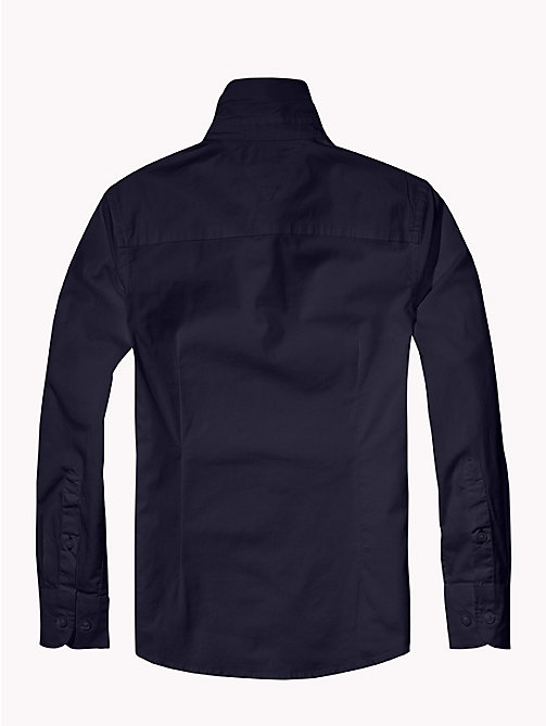 TOMMY HILFIGER Slim Fit Stretch Cotton Shirt - MIDNIGHT - TOMMY HILFIGER Shirts - detail image 1