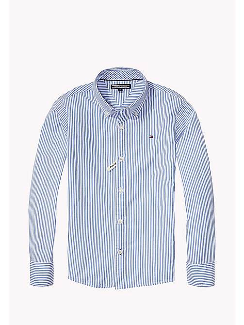 TOMMY HILFIGER All Over Stripe Shirt - SHIRT BLUE - TOMMY HILFIGER Shirts - main image