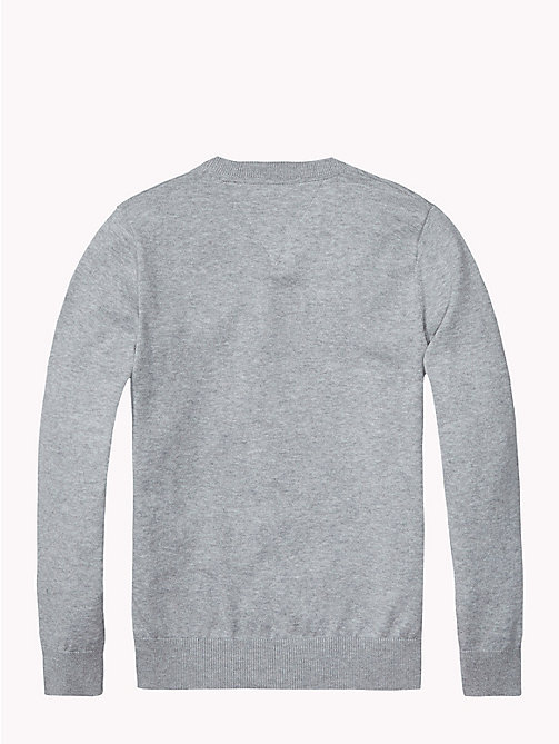 TOMMY HILFIGER Essential V-Neck Jumper - GREY HEATHER - TOMMY HILFIGER Jumpers & Cardigans - detail image 1
