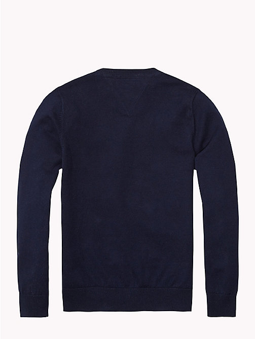 TOMMY HILFIGER Essential V-Neck Jumper - MIDNIGHT - TOMMY HILFIGER Jumpers & Cardigans - detail image 1