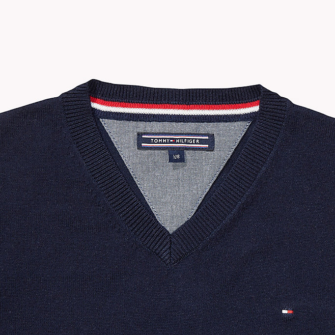 TOMMY HILFIGER Tommy Jumper - GREY HEATHER - TOMMY HILFIGER Kids - detail image 2