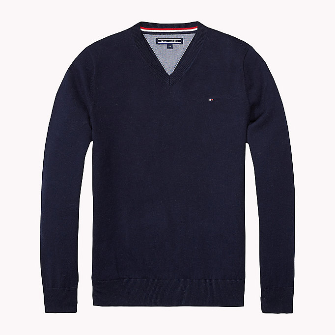 TOMMY HILFIGER Tommy Jumper - GREY HEATHER - TOMMY HILFIGER Kids - main image