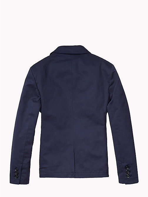 TOMMY HILFIGER Cotton Twill Blazer - MIDNIGHT - TOMMY HILFIGER Coats & Jackets - detail image 1