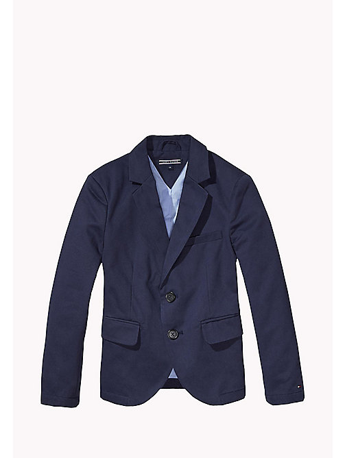 TOMMY HILFIGER Cotton Twill Blazer - MIDNIGHT - TOMMY HILFIGER Coats & Jackets - main image