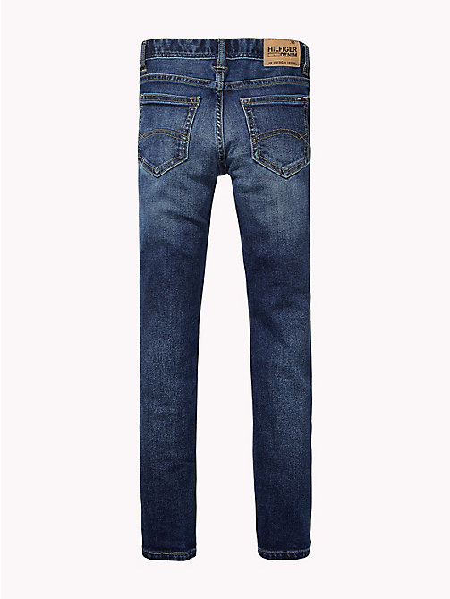 TOMMY HILFIGER Faded Knee Stretch Jeans - VERMONT MID WASH - TOMMY HILFIGER Jeans - detail image 1