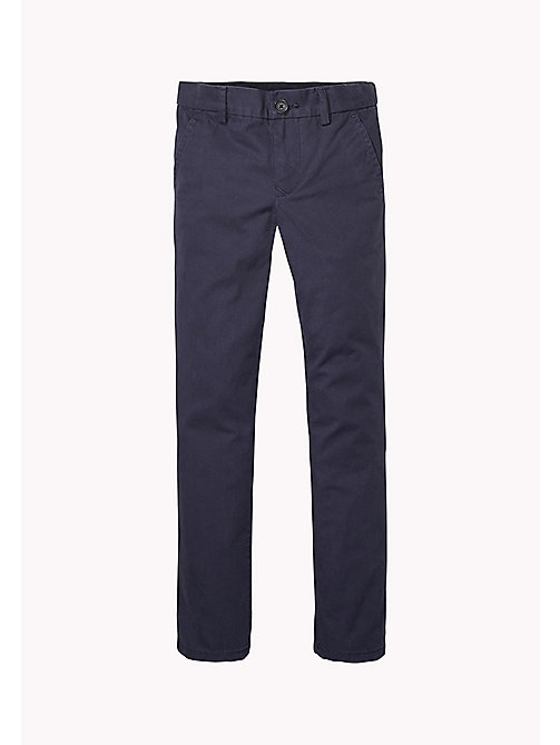 TOMMY HILFIGER Organic Cotton Chinos - MIDNIGHT - TOMMY HILFIGER Trousers & Shorts - main image
