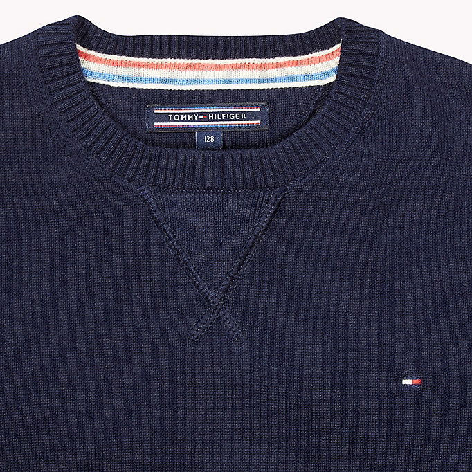 TOMMY HILFIGER Cotton Jumper - GREY HEATHER - TOMMY HILFIGER Kids - detail image 2