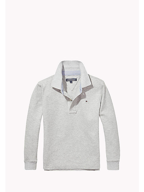TOMMY HILFIGER Long-sleeve Polo - GREY HEATHER - TOMMY HILFIGER Boys - main image